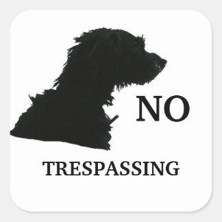 NO TRESPASSING SQUARE STICKER