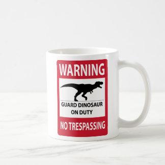 No Trespassing (T-Rex) Sign Coffee Mug