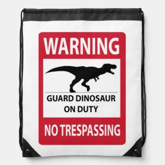 No Trespassing (T-Rex) Sign Backpacks