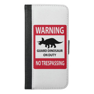 No Trespassing (Triceratops) Sign iPhone 6/6s Plus Wallet Case