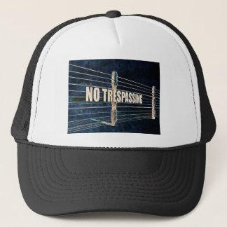 No Trespassing Trucker Hat