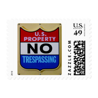 No Trespassing U.S. Postage Stamps