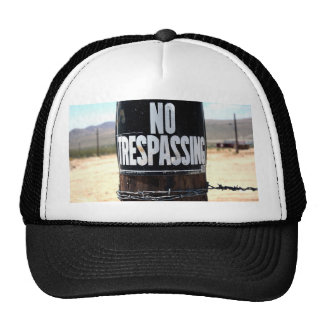 NO TRESPASSING Wired Post Mesh Hats