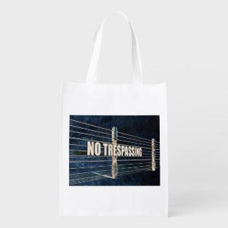 No Trespassing Grocery Bag