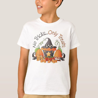No Tricks Halloween Holiday kids t-shirt