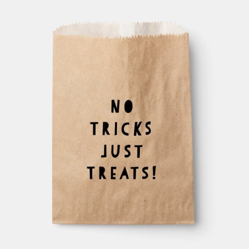 No Tricks Just Treats Halloween Candy Favor Bag