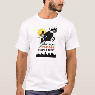 NO TRICKS Trick or Treat Vintage Halloween T-Shirt