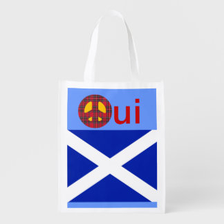 No Trident Scottish Independence Grocery Tote Reusable Grocery Bags