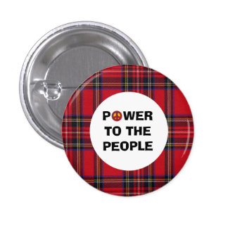 No Trident Scottish Independence People Power Button