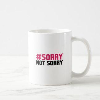 No triste triste taza de café