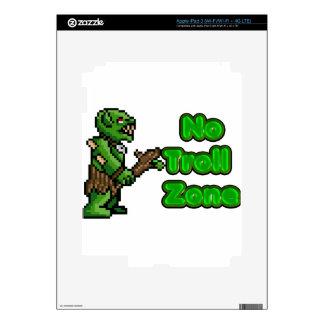 No Troll zone iPad 3 Decal