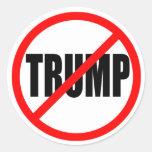 """NO TRUMP"" CLASSIC ROUND STICKER"