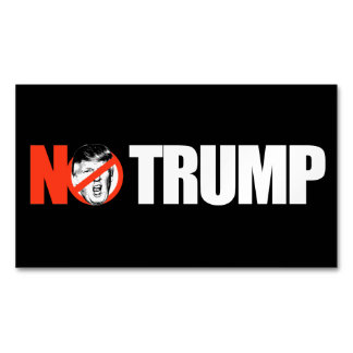 NO TRUMP - - .png Magnetic Business Card
