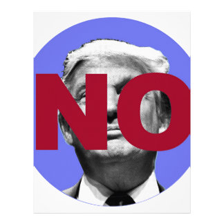 No Trump (Purple and Red) Letterhead