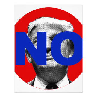 No Trump (red and blue) Letterhead