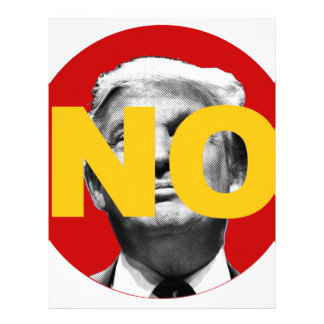 No Trump (Red and Yellow) Letterhead