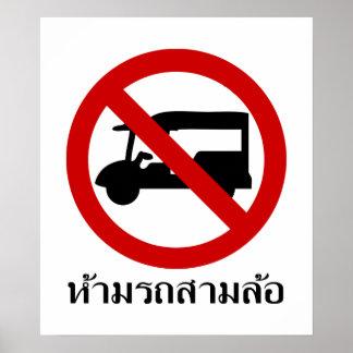 NO Tuk-Tuk TAXI ⚠ Thai Road Sign ⚠