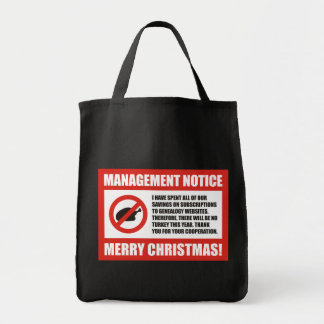 No Turkey This Year Tote Bag