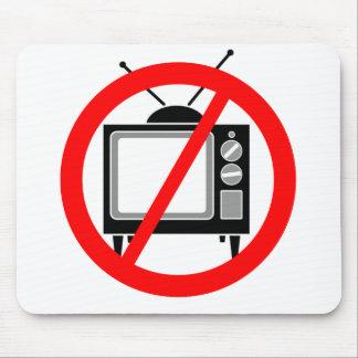 NO TV - television/propaganda/brainwashing/media Mouse Pad