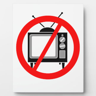 NO TV - television/propaganda/brainwashing/media Display Plaques