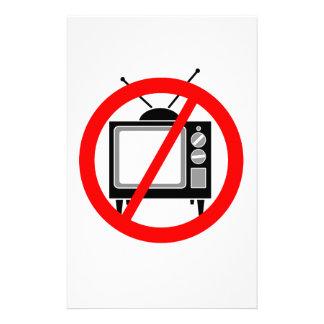 NO TV - television/propaganda/brainwashing/media Stationery