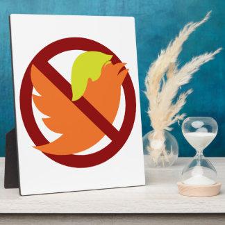 No Tweets Plaque