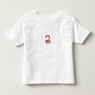 no two 2 toddler t-shirt