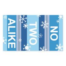 No Two Alike - Snowflake Stripe Poster Rectangular Sticker