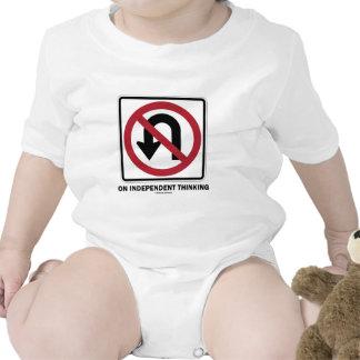 No U-Turn On Independent Thinking (Traffic Sign) T Shirts