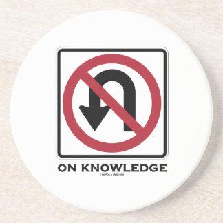 No U-Turn On Knowledge (No U-Turn Sign Humor) Drink Coaster