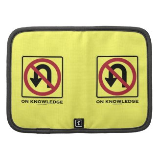 No U-Turn On Knowledge (No U-Turn Sign Humor) Planner