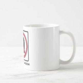 No U-Turn On Worldly Wisdom (Traffic Sign Humor) Coffee Mug