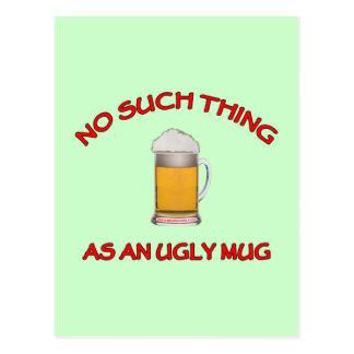 No Ugly Mug Postcard