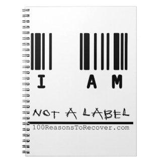No un cuaderno de la etiqueta