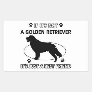No un golden retriever pegatina rectangular