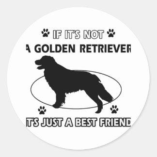 No un golden retriever pegatina redonda