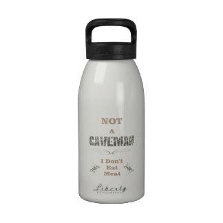No un hombre de las cavernas botella de agua reutilizable