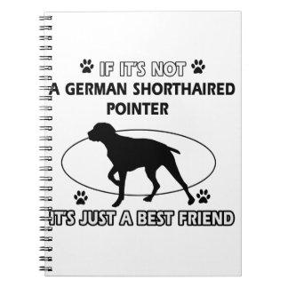 No un indicador de pelo corto alemán libro de apuntes con espiral