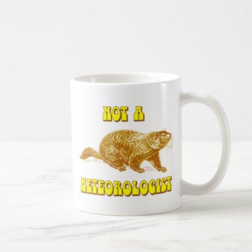 No un meteorólogo Groundhog Taza