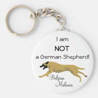 NO un pastor alemán Llavero Redondo Tipo Pin