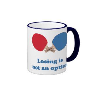 No un ping-pong de la opción taza de dos colores