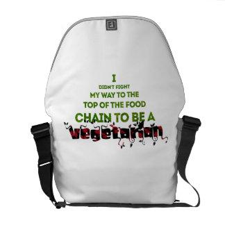 No un vegetariano bolsa de mensajeria