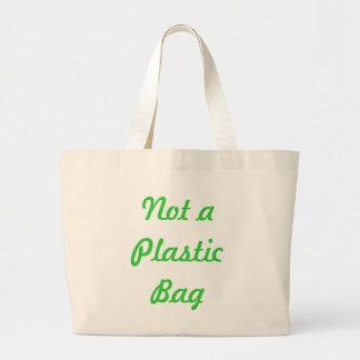 No una bolsa de asas de la bolsa de plástico