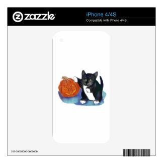 No una calabaza muy asustadiza de Halloween Calcomanías Para El iPhone 4S