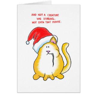 No una criatura tarjeta de felicitación