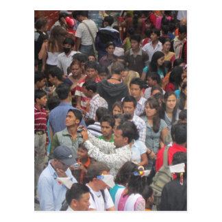 No una escena infrecuente en Katmandu Tarjeta Postal