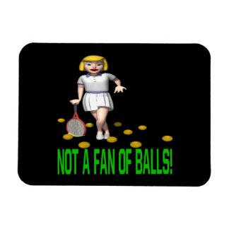 No una fan de bolas imán foto rectangular