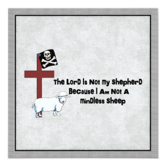 """No una oveja despreocupada invitación 5.25"""" x 5.25"""""""