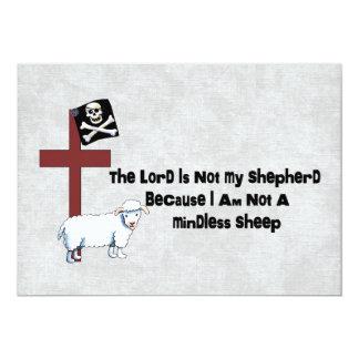 """No una oveja despreocupada invitación 5"""" x 7"""""""