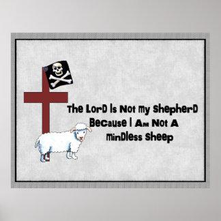 No una oveja despreocupada poster